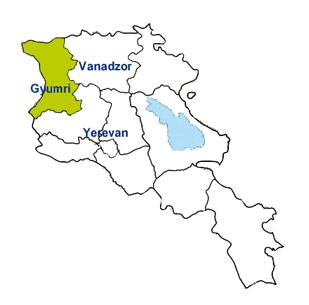 Shirak Gyumri - Gyumri map